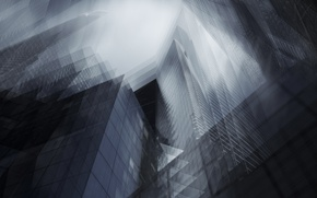 Picture abstraction, the city, home, skyscrapers, effect, skyscrapers