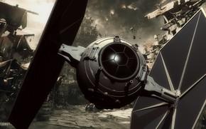 Picture camera, StarWars, t-fighter backgrnd