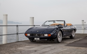 Picture Black, Retro, Convertible, 1971, Ferrari, Car, 365, Metallic, GTC4, Spyder Pininfarina