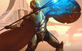 Picture warrior, shield, equipment, throwing, Lysander of Delphi
