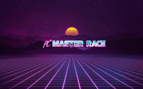 Picture Stars, Neon, Background, Race, Master, PC Master Race, Synth