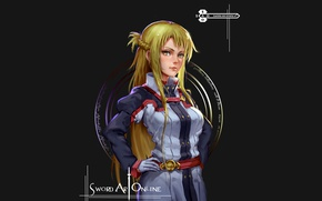 Picture cinema, girl, anime, fairy, MMORPG, blonde, asian, film, manga, animated film, japanese, Yuuki Asuna, Sword …