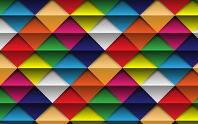 Picture background, colorful, rainbow, square, color, background, rhombus, geometric