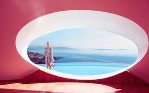 Picture sea, the sun, landscape, coast, dress, bag, photoshoot, InStyle, 2015, Odeya Rush, Odeya Rush, Eric …