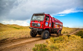 Picture Red, Sport, Truck, Race, Rally, Rally, The roads, 316, MAZ, Silk road, Silk Way, MAZ, …