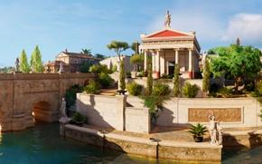 Picture bridge, the city, river, Assassin's Creed Origins