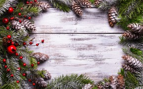 Picture snow, decoration, berries, tree, New Year, Christmas, Christmas, bumps, wood, Merry Christmas, Xmas, decoration, frame