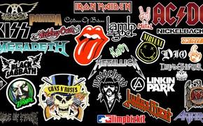 Wallpaper rock, logo, emblem, rock, rock-n-roll, rock n roll