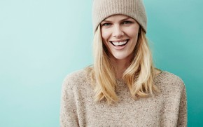 Picture smile, model, actress, blonde, Brooklyn Decker
