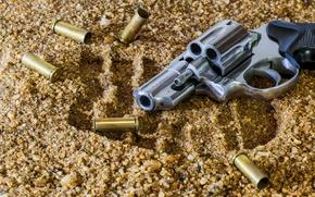 Wallpaper Taurus, amber sand, ammunition, the camouflage equipment, melee, revolver, wallpaper., bokeh, blur, trail, gun, Taurus, ...