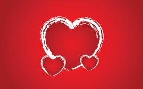 Picture background, contour, hearts