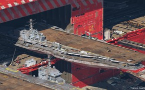 Picture ship, hangar, Doc, service, Air carrier facility