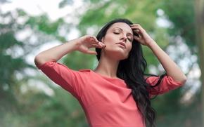 Picture model, hair, brunette, Ela Green
