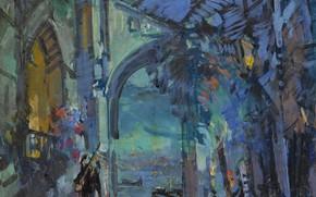 Picture picture, Venice, impressionism, the urban landscape, Konstantin Korovin
