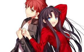 Picture girl, anime, guy, Fate stay night, Fate / Stay Night