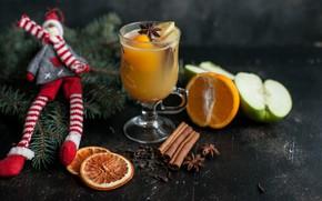 Picture Apple, snowman, citrus, drink, decor