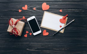 Picture Hearts, Holiday, Phone, Pencil, Valentine's day