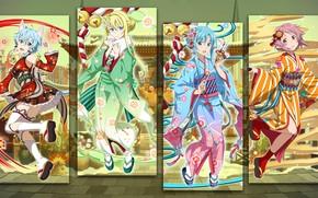 Picture girls, collage, art, Sword art online, Sword Ard Online