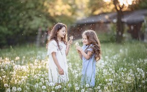 Picture joy, girls, dandelions