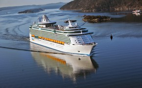 Picture Liner, The ship, Passenger, On the go, Passenger liner, Independence of the Seas, Islands