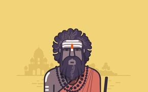 Picture Asia, India, mosque, yogi, Indian