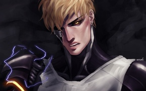 Picture look, anime, art, guy, One Punch Man, Genos