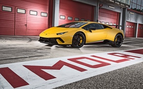 Picture Lamborghini, yellow, Huracan, Huracan Performante, Lamborghini Huracan Performance