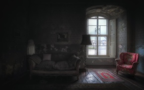 Picture sofa, chair, window