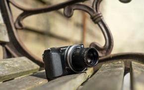 Wallpaper Fujian GDS-35 35mm, camera, Sony nex 3n, bench, C mount adapter