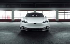 Picture front view, Tesla, Model S, Novitec, 2017