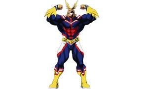 Picture anime, hero, pose, manga, powerful, strong, uniform, yuusha, seifuku, super hero, Boku no Hero Academy, …
