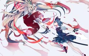 Picture weapons, girls, Touhou, Touhou, Touhou, anime game