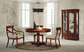 Picture table, furniture, chairs, interior, chandelier, dining room