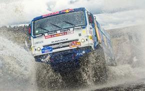 Picture Water, Sport, Speed, Truck, Race, Master, Squirt, Russia, Cabin, Kamaz, Rally, Dakar, KAMAZ-master, Dakar, Rally, …