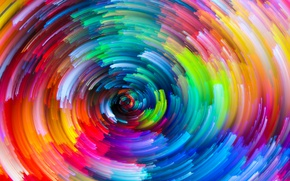 Wallpaper rainbow, painting, colorful, abstract, colors, splash