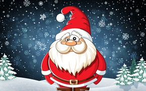 Picture Winter, Look, Snow, Mustache, New Year, Christmas, Costume, Snowflakes, Background, Santa, Beard, Holiday, Santa Claus, ...