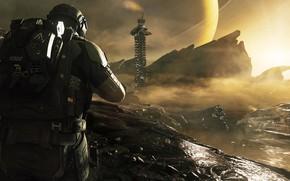 Picture rocks, planet, construction, ring, GDB - CODInfinite Warfare