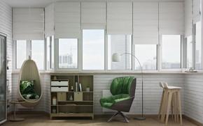 Picture furniture, Windows, interior, the room, Private Flat
