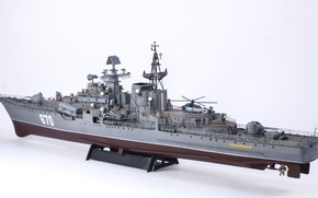 Wallpaper model, rear view, squadron, destroyer, head, Modern, 670, project 956