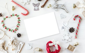 Picture New Year, Christmas, white, vintage, merry christmas, decoration, xmas