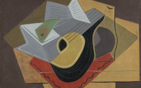 Picture cubism, 1926, Juan Gris, Black mandolin