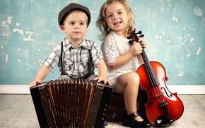 Picture children, music, violin, boy, music, cello, girl, instrumento, girl, boy, accordion, violin, cello, children, tools, ...