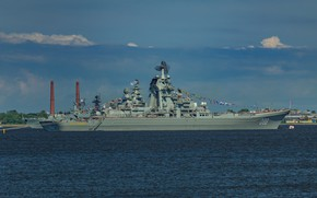 Picture Peter the great, heavy nuclear missile cruiser, Baltika 2017