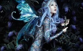 Picture girl, pose, style, fairy, wings, wreath, Bella Kotak, Jessica Dru, Fae