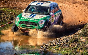 Picture Auto, Mini, Sport, Machine, Speed, Race, Dirt, Puddle, Squirt, Rally, SUV, Rally, X-Raid Team, MINI …