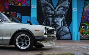 Picture Auto, Disk, Machine, Nissan, Nissan, Car, 2000, Skyline, Nissan Skyline, The front, 2000GT, Japanese, Grafiti, …
