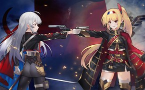 Picture weapons, girls, guns, anime