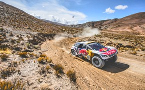 Wallpaper Peugeot 3008 DKR, Red Bull, Sport, Speed, Dirt, Sport, DKR, Lights, 3008, Race, Rally, Dakar, ...