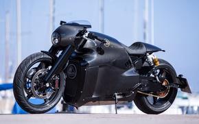Picture black, Lotus, motorcycle, Lotus, black, bike, motorcycle, superbike, sportbike, Lotus C-01