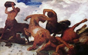 Picture 1873, Symbolism, Arnold .. .. , Battle of centaurs